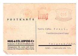 Hug (&Co) Meter Stamp On Company Postcard Posted 1931 To Belgrad B201110 - Brieven En Documenten