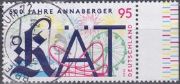 Deutschland 2020. 500 Jahre Annaberger KÄT, Mi 3547 Gebraucht - Usados