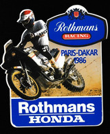 Autocollant - ROTHMANS - HONDA Paris - Dakar 1986 - Altri