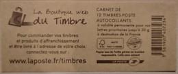 France - Carnet 590-C11 - Marianne De Beaujard TVP 20g - La Boutique Du Timbre - Non Plié - Standaardgebruik
