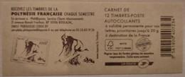France - Carnet 590-C12 - Marianne De Beaujard TVP 20g - Timbres De Polynésie Française - Non Plié - Uso Corrente