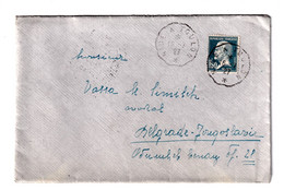 France 2 Letter Covers Posted 1927 Nice To Belgrade B201110 - Lettres & Documents