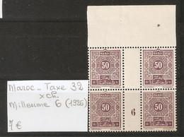 MAROC  .  TAXE N° 32 .  X CHARNIERE . MILLESIME 6  ( 1926  )  . VOIR SCAN R/V . - Postage Due