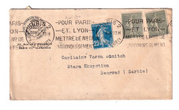 Federation Interalliee Des Anciens Combattants Letter Cover Posted 1926 To Serbie B201110 - Lettres & Documents