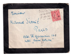 Antibes Slogan Postmark On Letter Cover Posted 1928 B201110 - Lettres & Documents
