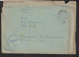 German Feldpost WW2: From Marineflakschule I In Usedom To RAD 13 Posted Usedom 14.7.1943 - Letter  (DD21-58) - Seconda Guerra Mondiale