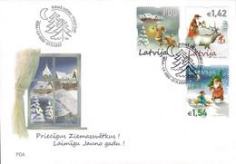 Latvia Lettland Lettonie 2020 (15) Christmas - Weihnachten - Noël (unaddressed FDC) - Lettland