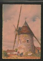 CP Illustré Par BARDAY Nos Vieux Moulins à Vent. En Ile De France  à Gastins- Edition  BARRE-DAYEZ N° 2912 J - Barday