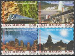 San Marino 2012 Correo 2309/12 Año Internacional De La Energia Sostenible (4v) - Ungebraucht