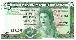 GIBRALTAR 1988 5 Pound - P.21b Neuf UNC - Gibraltar
