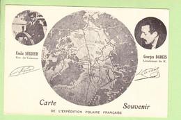 TAAF - Carte Géographique Expédition Polaire Française - Pôle Nord, Groenland - Séguier Et Darcis  -  2 Scans - TAAF : Franz. Süd- Und Antarktisgebiete