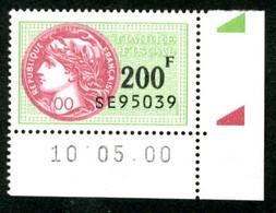 Timbre Fiscal (fiscaux) - Série Fiscale Unifiée (SFU) Neuf N° 510 - Coin Daté Du 10/05/2000 - Revenue Stamps