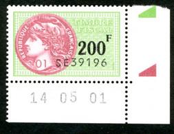 Timbre Fiscal (fiscaux) - Série Fiscale Unifiée (SFU) Neuf N° 510 - Coin Daté Du 14/05/2000 - Revenue Stamps