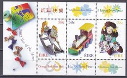 Md_ Irland Eire 2002 - Mi.Nr. Block 40 - Postfrisch MNH - Eisenbahnen Railways Spielzeug Toys - Blocks & Sheetlets