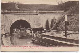 55 MAUVAGES Souterrain Pour Le Passage Du Canal De La Meuse Péniches - Entrée Du Toueur Et Sa Rame De Bâteaux - Arken