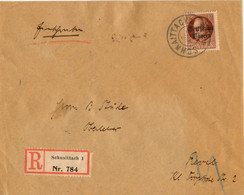 Bayern 1919, EF 75 Pf Volksst Auf Einschreiben Brief Schnaittach-Estland. #836 - Bavaria