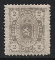 Finland (11) 1875 2p. Grey. Unused - Nuovi