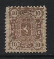 Finland (12) 1875 10p. Brown. Unused - Nuovi