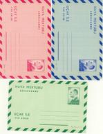Turkey 3 Mint Aerogrammes (189) - Interi Postali