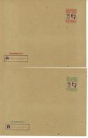 Turkey 2 Registered Envelopes (192) - Interi Postali