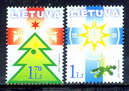 Lithuania 2002 Lituania / Christmas MNH Nöel Navidad Natal Weihnachten / Hg15  37-10 - Christmas