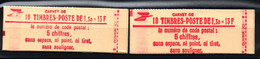 Carnets 2059-C2 + 2059-C2a - Neufs ** - Cote: 52,00 € - Gomme Brillante + Mate - Usage Courant