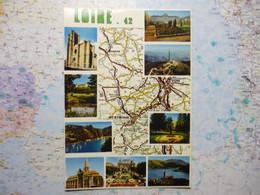 Carte Du Département De La Loire Avec Vues Multiples - Zonder Classificatie