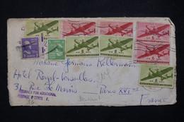ETATS UNIS - Devant D' Enveloppe De Philadelphia Pour La France Par Avion Avec Cachet De Taxe - L 79274 - Cartas