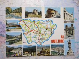 Carte Du Département De La Haute-Loire Avec Vues Multiples - Zonder Classificatie