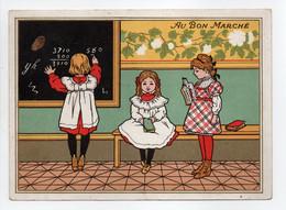 - CHROMO AU BON MARCHÉ - Maison BOUCICAUT, PARIS - Tableau D'additions - - Au Bon Marché