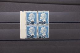 FRANCE - Variété - N° Yvert 222 Type Pasteur - Surcharge Décalée En Bloc De 4 - Neufs - L 79283 - Variétés: 1921-30 Neufs