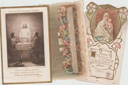 De53 /V.P.  : Image  Pieuse : Lot De  3 :  école Saint Louis De Gonzague 1906 , Communion - Devotion Images