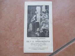 Prodigiosa Immagine SS.ma V.ANNUNZIATA Opera Silvestro Buono Santuario Omonimo S.AGNELLO Di SORRENTO - Devotion Images