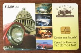 CUBA GRANCAR VOITURE CARS TELECARD TÉLÉCARTE PHONECARD - Cuba
