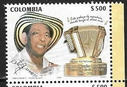 COLOMBIA, 2019, MNH,MUSIC, GILBERTO DIAZ,1v - Music