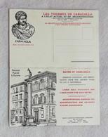 """Cartolina Postale """"Les Thermes De Caracalla"""" - La Grande Sala Frigidarium Stato Attuale E Restauro, Non Viaggiata - Other"""