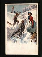 CPA Illustrateur Ernst Platz N° 3116    -  Neige, Luges - Andere Illustrators