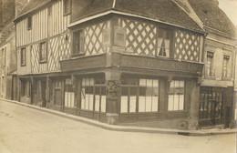 NOGENT-LE-ROTROU -  Carte Photo Maison De Bois Angle De La Rue Gouverneur Et Rue Bourg-le-Comte - Nogent Le Rotrou