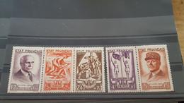 LOT521595 TIMBRE DE FRANCE NEUF* N°576 A 580 - Neufs