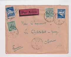ALGERIE - 1930 - ENVELOPPE Par AVION De ALMA (ALGER) => LE CHATELET EN BERRY - Lettres & Documents