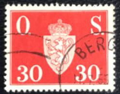 Norge - Norway - Noorwegen - P4/18 - (°)used - 1951 - Michel D64 - Offentlig Sak - Service