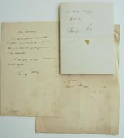 L.A.S. Francisque Sarcey, Journaliste Et écrivain, 1827-1899 - Handtekening