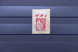 """FRANCE - Oblitération """" Car Postal Automobile """" En 1937 Sur Type Paix Sur Fragment - L 79317 - 1921-1960: Période Moderne"""