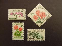 MONACO, Année 1959, YT N° 515-517-518-520 Oblitérés - Gebruikt