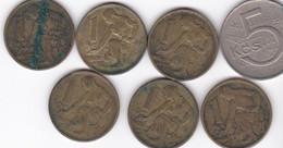 Republika Socialisticka Ceskoslovenska, Lot De 7 Pièces, 5 Koruna Et 1 Korun, 1969 , 1962, 1967 1970 - Czechoslovakia