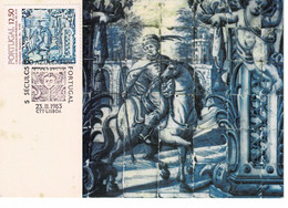 CARTE MAXIMUM 5 SECULOS DO AZULEJO EM PORTUGAL - Azores