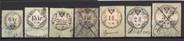 1854? AUSTRIA, SET OF 7 REVENUE STAMPS, USED - Usados