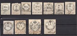 1858? AUSTRIA, SET OF 11 REVENUE STAMPS, USED - Usados