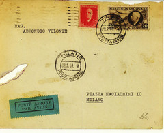 Albania 1940 Airmail Cover (236) - Albanie