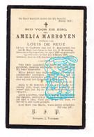 DP Amelia Marroyen ° Opbrakel 1825 † Elst Brakel 1900 X Louis De Reue - Andachtsbilder